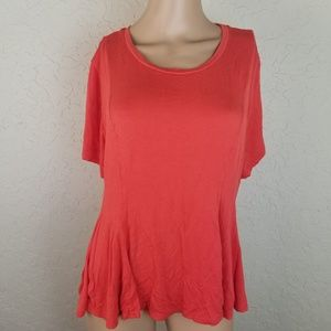Mossimo Coral Short Sleeve Womens Size XXL